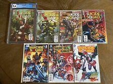 SUICIDE SQUAD 1 - CGC 9.6 1st Print + 2,3,4 & New Suicide Squad 1,2,3 NM.