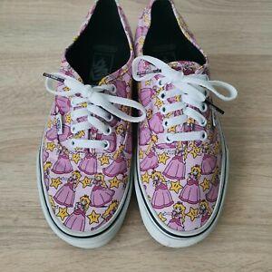 Rare Nintendo x Vans Princess Peach Sneakers Mens size 8 / Womens size 9.5
