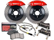 STOPTECH TOURING BBK BIG BRAKE KIT (FRONT/RED/4 PISTONS/DRILLED/355MM ROTORS)