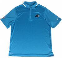 Nike NFL On Field Carolina Panthers Dri Fit Polo Shirt Men's SIze XL EUC