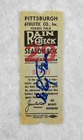 """Elroy """"Roy"""" Face Signed 1950's Forbes Field Pittsburgh Pirates Ticket Stub"""