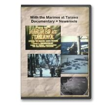 With The Marines at Tarawa Documentary + Newsreels WWII Marines USMC DVD  - A737