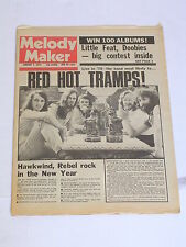 MELODY MAKER Rock & Roll Great Britain Newspaper 1975 RED HOT TRAMPS