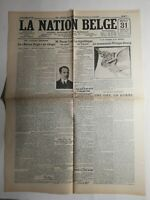 N331 La Une Du Journal La nation belge 31 octobre 1923 la nation belge au Congo