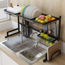 Sink Drain Rack Stainless Steel Kitchen Shelf Dish Cutlery Drying Drainer Holder