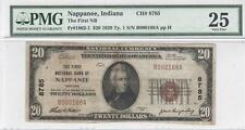 $20 Nat'l Currency, 1929 Ty 1, CH8785, First NB, Nappanee, IN, PMG Very Fine 25