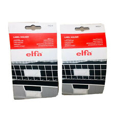 elfa LABEL HOLDERS (2 Packs) Set of 8 Total The Container Store Storage System