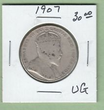 1907 Canadian 50 Cents Silver Coin - VG