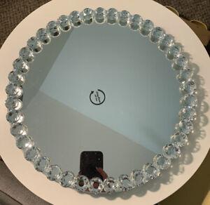 "Vidali Collection CRYSTAL Round LAZY SUSAN 360 spin decor NWT 13"""