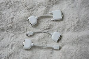 Lot of 3 Apple laptop monitor adapter cables - 2005 - 2008 MacBook