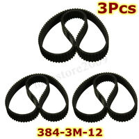 3pcs /set HTD 384-3M-12 Drive Belt  Replacement For Escooter Electric Scooter