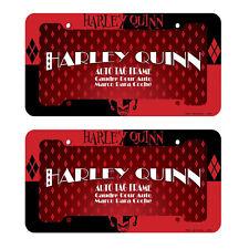DC Comics Harley Quinn Design Plastic License Plate Frame- 2 PC