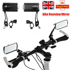 1Pair Bike Mirror Mountain Bicycle Rearview Handlebar End Rear Back View MTB NEW