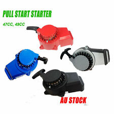 2X ALLOY PULL START STARTER POCKET BIKE MINI DIRT ATV QUAD DS 50CC 49CC 2 STROKE