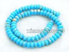 5*8mm Blue Rondelle Imperial Jasper Loose Beads for Jewelry Making Strand 15''