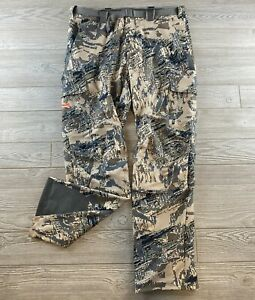 Sitka Hunting Pants Belted Pants Cargo Pockets size 38 Tall Optifade