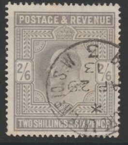 GB EVII 1902-11 2/6 used sg261 dated cds postmark