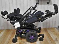 Quantum Edge 3 Stretto Power Wheelchair ~ Pwr Tilt, Recline, Legs ~ Small