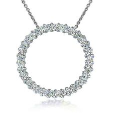 Sterling Silver 1.00ct TDW Diamond Eternity Necklace
