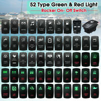 12V 24V Green & RED Dual LED Rocker Switch ON OFF 5 Pin Car Boat Marine 4X4 4WD