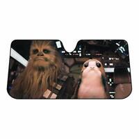 Star Wars Chewbacca and Porg Universal Windshield Sunshade