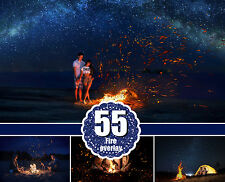 55 fire photo Overlays, flamers, fire sparks, night, lighter effect, bonfire png