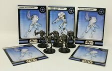 """Wizards Star Wars Miniature Lot of 5 Super Battle Droid w/ Cards 1.5"""" Figure RPG"""
