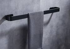 Space Aluminum Black Bathroom Towel Rack Holder Single Towel Bar Rail 50cm b136