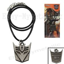Transformers Decepticon LOGO Pendant Necklace NIB