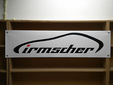 irmscher workshop or garage advertising banner ideal for vauxhall enthusiasts