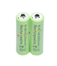 2x AA 1.2V 3000mAh Ni-MH rechargeable battery 2A cell /RC Green