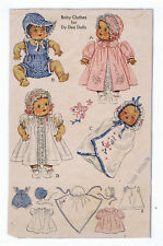 """632 Vintage Chubby Baby Doll Pattern - Size 11"""" -- Year 1949"""