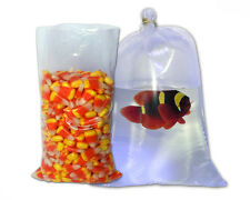 100   Food Grade Clear Poly Bags  Flat Open Top  8 x 15     2 Mil    Fish Bags