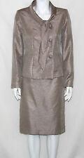 Le Suit NEW Shawl Collar Shimmer Jacket & Skirt Suit REG 6
