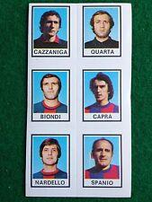 CALCIATORI 1974-75 74-1975 n 595 TARANTO 6 giocatori , Figurina Panini NEW