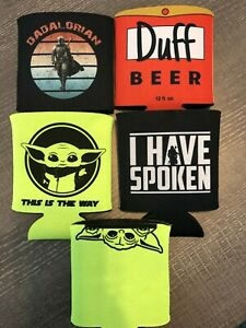 Mandalorian Baby Yoda Koozie Coozie free shipping! Duff Beer The Simpsons