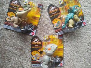 Jurassic World Snap Squad Wave 8 Set of 3:  Bumpy, Baryonyx Grim, Indominus Rex