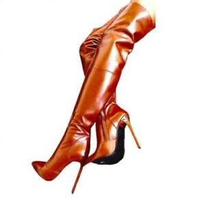 Runway Women's Party Nightclub Pointy Toe High Heel Over The Knee High Boots L
