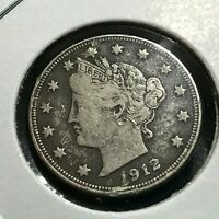 1912-D LIBERTY NICKEL IN HIGHER GRADE BETTER DATE COIN