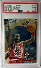 94 Upper Deck Collectors Choice Michael Jordan Gold Signature #402, Rare PSA 9