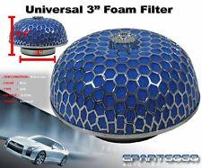 "3"" MUSHROOM STYLE HIGH FLOW INLET/INTAKE AIR FILTER BLUE MICROFOAM FOR SUBARU"