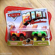 Disney PIXAR Cars MINI ADVENTURES 4x4 Buddies MCQUEEN & CHICK HICKS Monstertruck