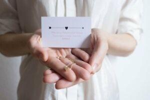 Trauzeugin Danke sagen - Karte plus Herz Armband Gold plus Geschenkumschlag