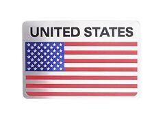 Metal United States USA National Flag Rear Badge Sticker Car Emblem For Chrysler