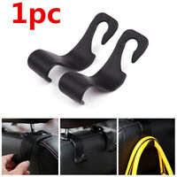 Universal Car Auto Back Seat Hook Hanger Bag Coat Purse Organizer Holder Black