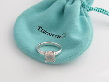 Tiffany & Co Silver Picasso Rose Quartz Sugar Stack Ring Size 6