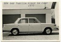 BMW vor Doppelgarage, Orig.-Photo von 1970