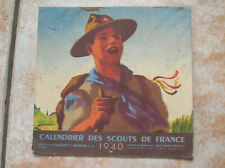 CALENDRIER DES SCOUTS DE FRANCE 1940 (oh)