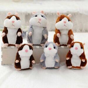 15cm Walking Talking Hamster Plush Animals Dolls Funny Sound Record Repeat Voice