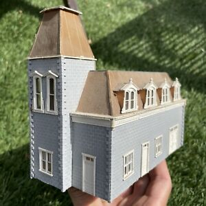 Vintage Wood HO Home Assembled Victorian House Built Weathered Lots Of Detail